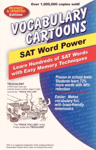 『Vocabulary Cartoons, SAT Word Power: Learn Hundreds of SAT Words with Easy Memory Techniques (English Edition)』のトップ画像