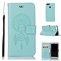 ケース for Huawei Honor 7X, Abtory PUレザー ケース 手帳型 保護ケース カードポケット付き 横置きスタンド機能付き マグネット式 スマホケース スマートフォンケース for Huawei Honor 7X Green