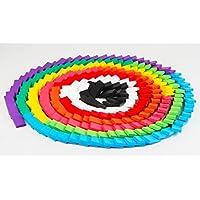 積み木 ドミノ倒し 知育玩具 240枚 木製 カラフル こども 誕生日 プレゼント 並べる用道具
