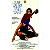 Just Tell Me What You Want [VHS] [Import]