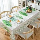 ポリ塩化ビニールのテーブル クロスを印刷,耐水性耐油性鉄防表カバー シミュレートされたコットン リネン長方形サイド テーブル ダイニング テーブル読書テーブル プロテクター-i