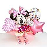 Disney ディズニー ミニー バルーン アレンジ ギフト (名入れ 出産祝用)