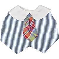 OP-mini ドレスアップビブ マドラスチェックタイ ブルー 26-56954