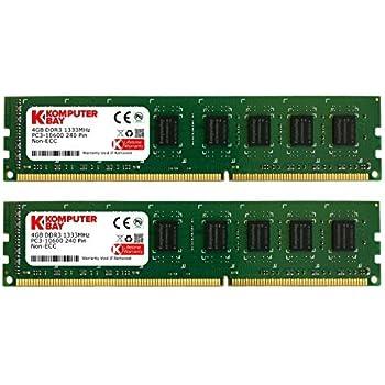 Komputerbay  8GBメモリ  2枚組  4GBX2   DUAL  デスクトップパソコン用 増設メモリ  DDR3  PC3-10600 1333MHz   240pin DIMM