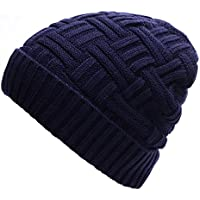 Odema Mens Winter Warm Knitting Hats Wool Baggy Slouchy Beanie Hat Skull Cap
