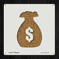 お金バッグの銀行ノートスタイル13318DIYプラスチックステンシルアクリルMylar再利用可能な
