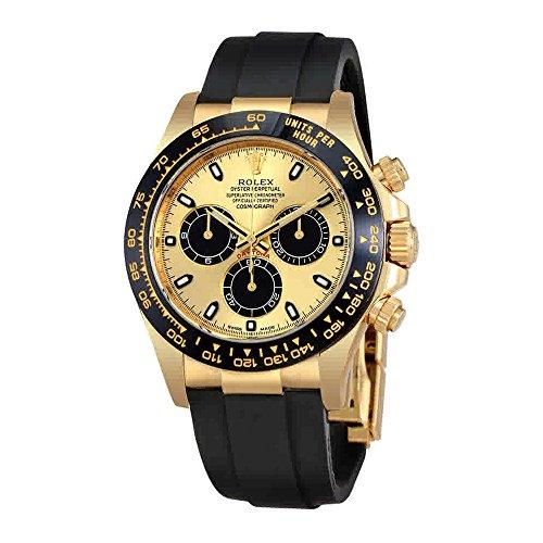 Rolex Cosmograph Daytonaクロノグラフ自動oysterflexメンズ時計116518cbksr