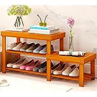 QFFL xiejia 靴のラックバンブーシューズベンチシューズラックアンチボアズシューズラック家庭用アセンブリ防塵シューズラック (色 : B)