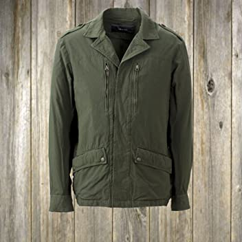 Nylon Poplin Field Jacket 3718: Khaki