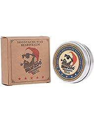 ビアードバーム メンズひげワックス 口髭用ワックス ひげクリーム 保湿/滋養/ひげ根のケアなどの効果 ひげケア必需品 携帯便利(2)