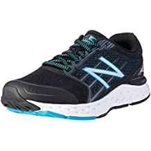 New Balance Women's 680v5 Running Shoes, Black/Blue