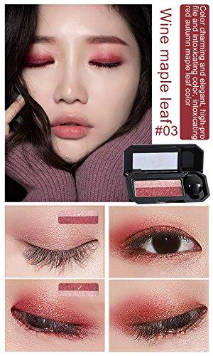 Yidarton アイシャドウ ツイングラデーションアイカラー ピンク系(濃い赤と薄いピンク)