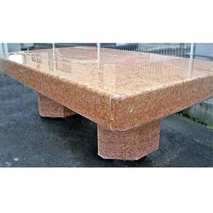 テーブル スペイン産 天然 大理石 テーブル(アンモナイトの化石入り)