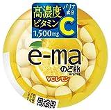 UHAピピン e-maのど飴容器 ビタミンC レモン 33g ×6個