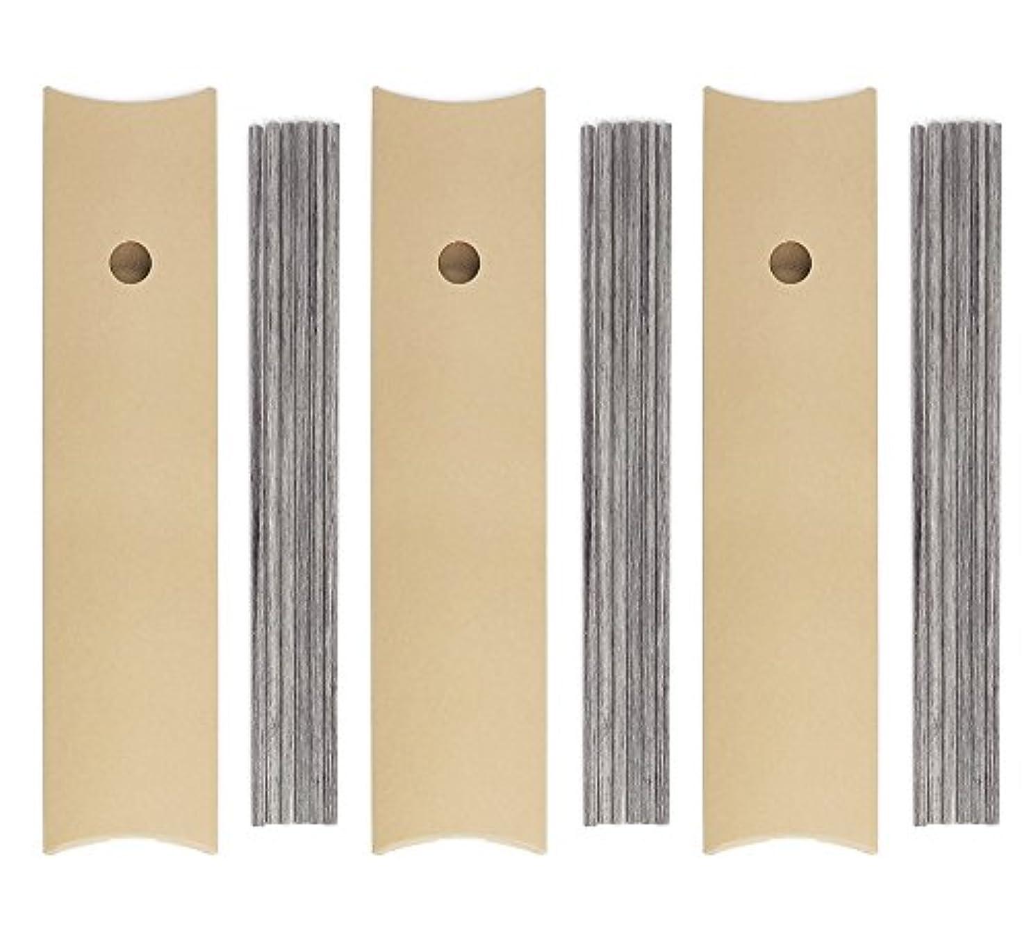 パプアニューギニア助言花弁リードディフューザー スティック チャコールブラウン 25cm×5mm 6本入 × 3個