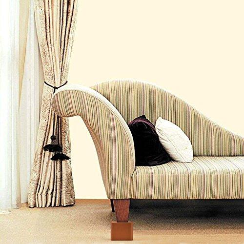 『Uping テーブル・ ベッドの高さ調節が簡単にできる ベッドの高さをあげる足 4個セット 高さを上げる 高さ調節脚 こたつ 継足し 継ぎ足 テーブル脚台 高さ調整 暖房器具 (耐荷重1000kg) ブラウン』の3枚目の画像
