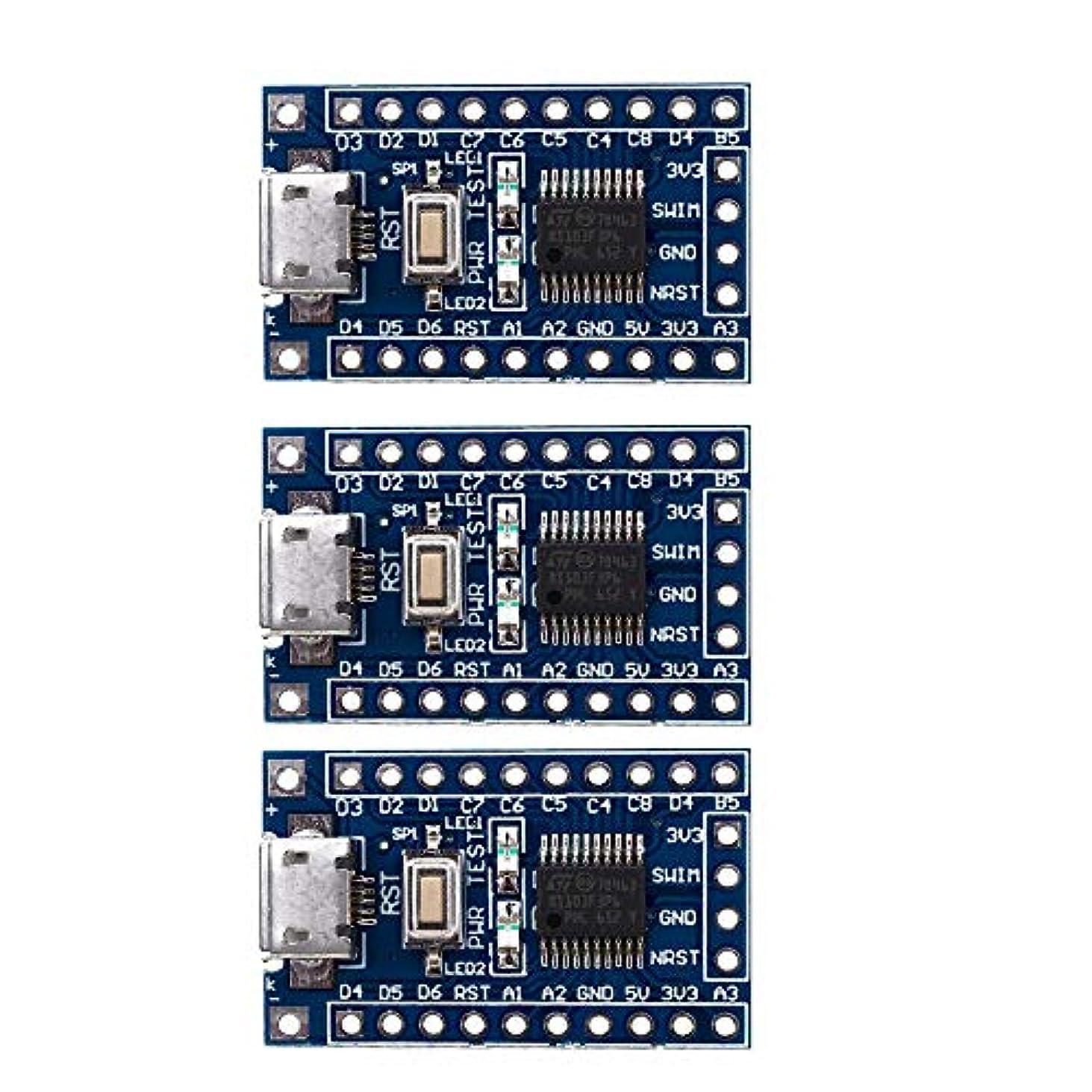 とスクレーパー音楽家Calloy STM8S103F3P6 STM8 ARM 最小システム 開発ボード モジュール Arduino用 3個 収納ボックス付き