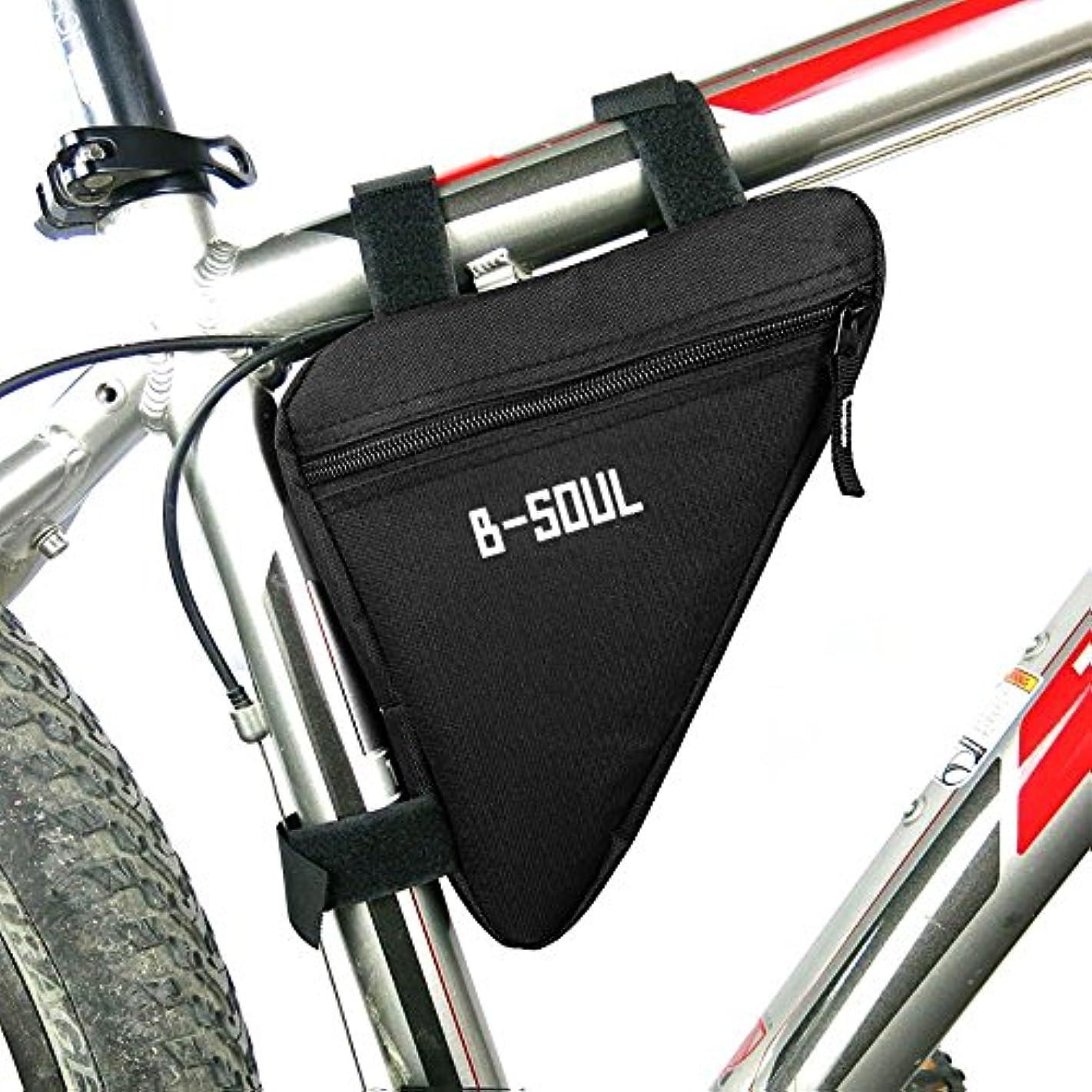 グレーコテージ準備した自転車用 トライアングル型バッグ ?三角形のバイク 自転車フロントチューブ フレーム ポーチ バッグ ホルダー サドル パニエ サイクリングバッグ ブラック