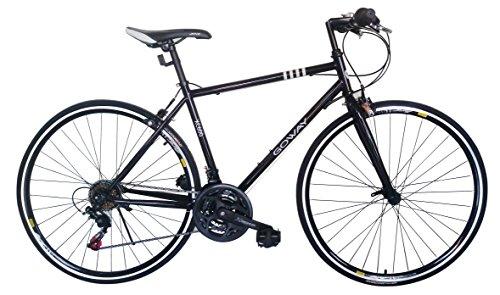 GOWAY(ゴーウェイ)クロスバイク 700c X 23cシマノ純正18段変速 前輪クイックリリース (ブラック) [並行輸入品]