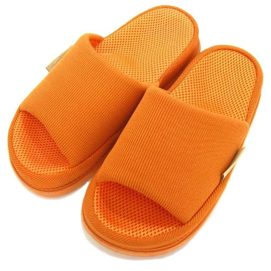 足で癒す リフレクソロジースリッパ リフレ 中心 オレンジ M