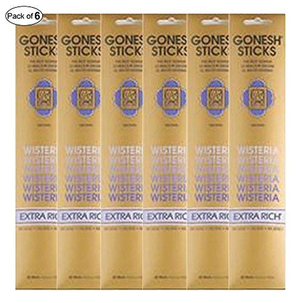 取得する拒絶ビクターGonesh Incense Extra rich- Wisteria ( 20 Sticks in 1パック) (パックof 6 )