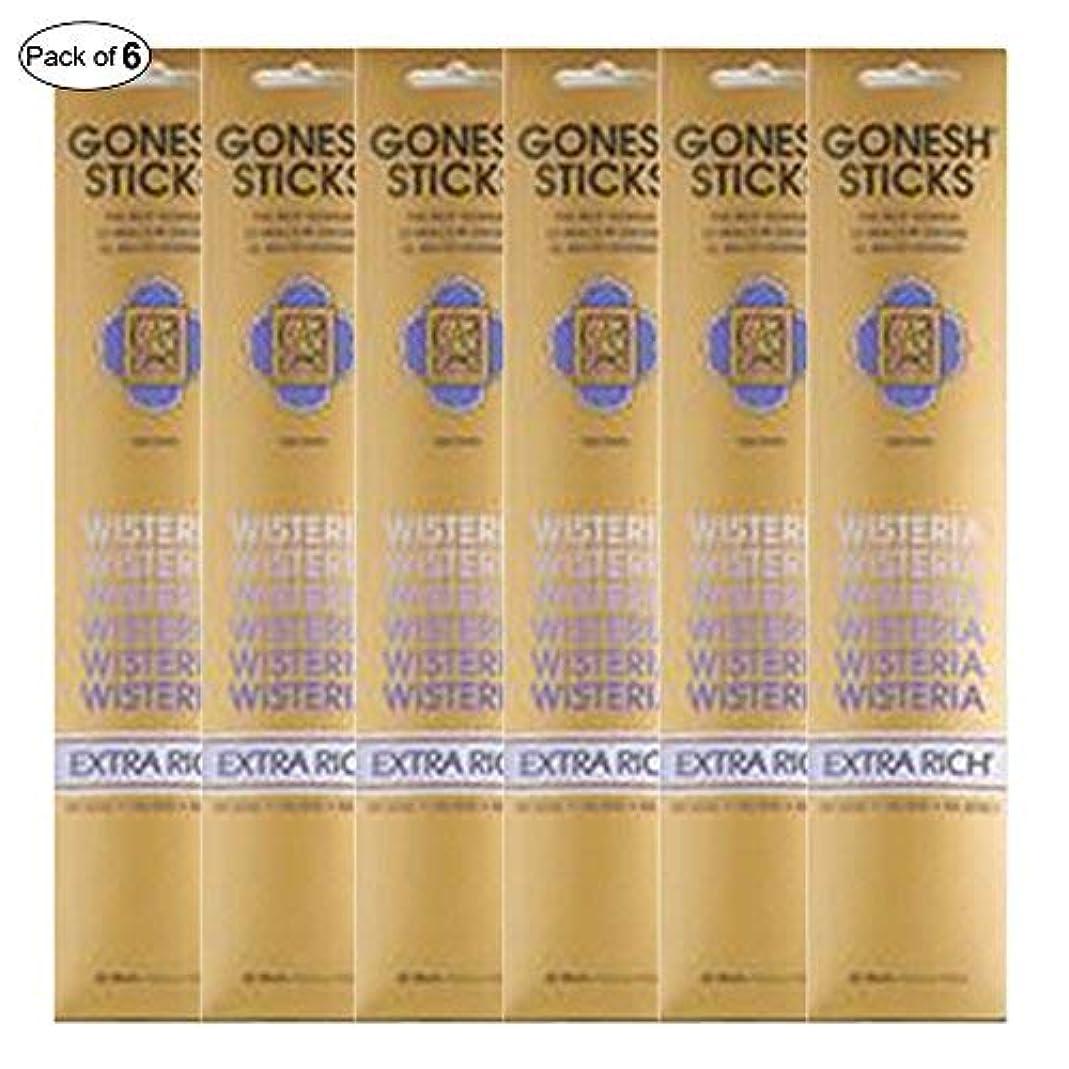 願う主要な説明Gonesh Incense Extra rich- Wisteria ( 20 Sticks in 1パック) (パックof 6 )