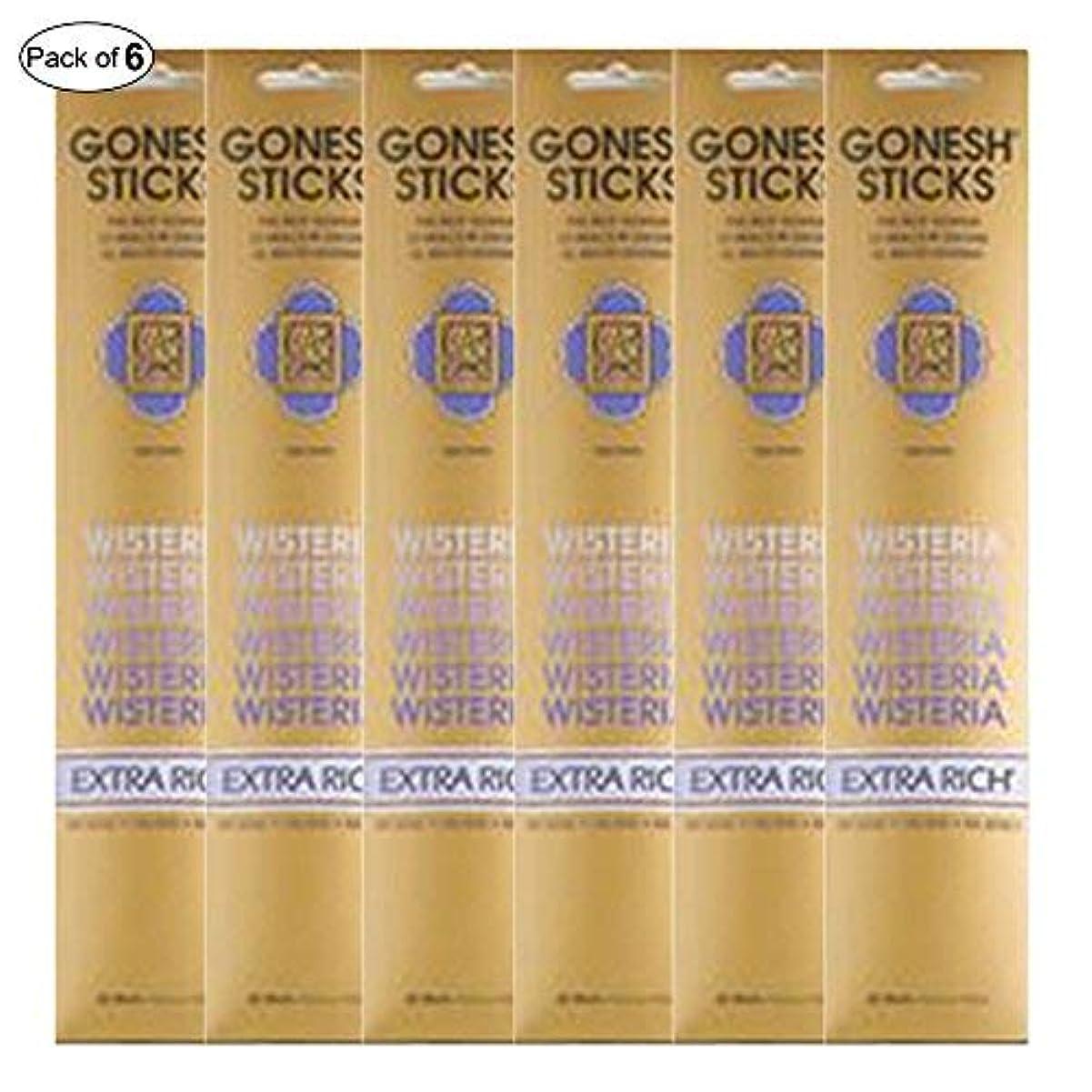 乱雑なそのトムオードリースGonesh Incense Extra rich- Wisteria ( 20 Sticks in 1パック) (パックof 6 )