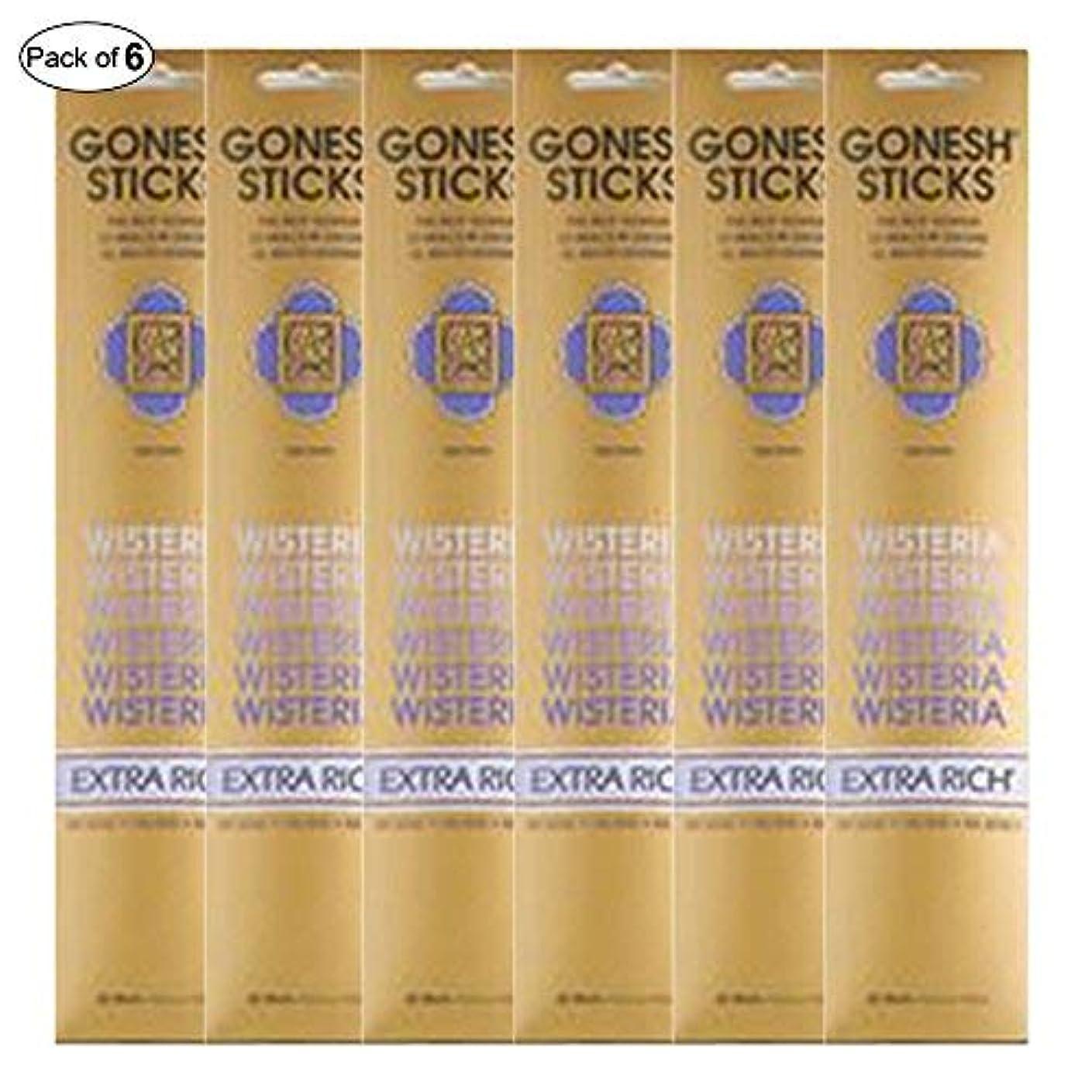 焦がす分析する狂うGonesh Incense Extra rich- Wisteria ( 20 Sticks in 1パック) (パックof 6 )