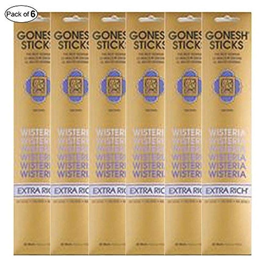 評価プット番目Gonesh Incense Extra rich- Wisteria ( 20 Sticks in 1パック) (パックof 6 )