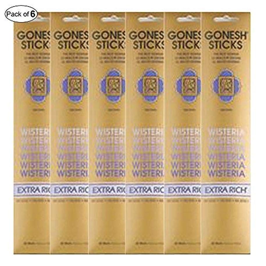 習慣遅らせる浴Gonesh Incense Extra rich- Wisteria ( 20 Sticks in 1パック) (パックof 6 )