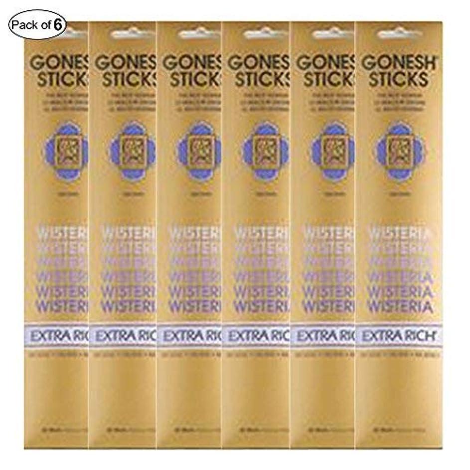 熱望する受け継ぐエッセイGonesh Incense Extra rich- Wisteria ( 20 Sticks in 1パック) (パックof 6 )