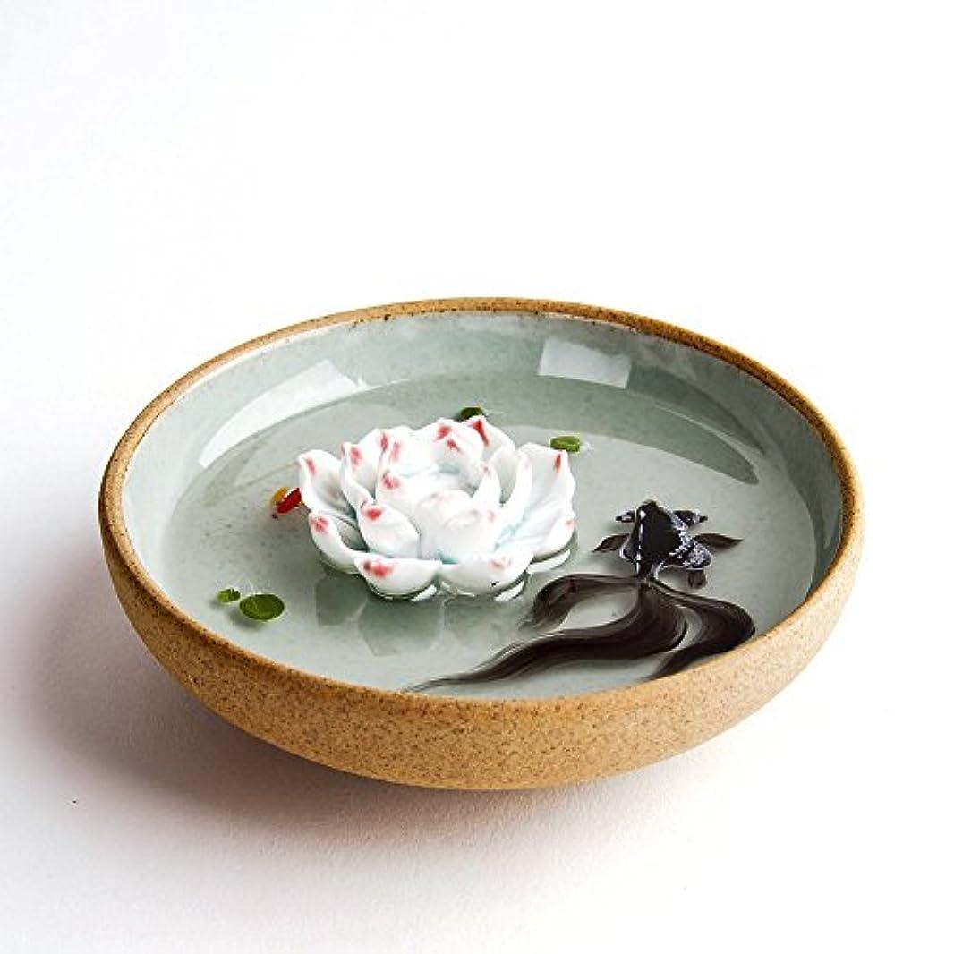 摘む隣人副産物お香立て お香たて 香の器 お香を焚いて 香皿,陶磁器、緑