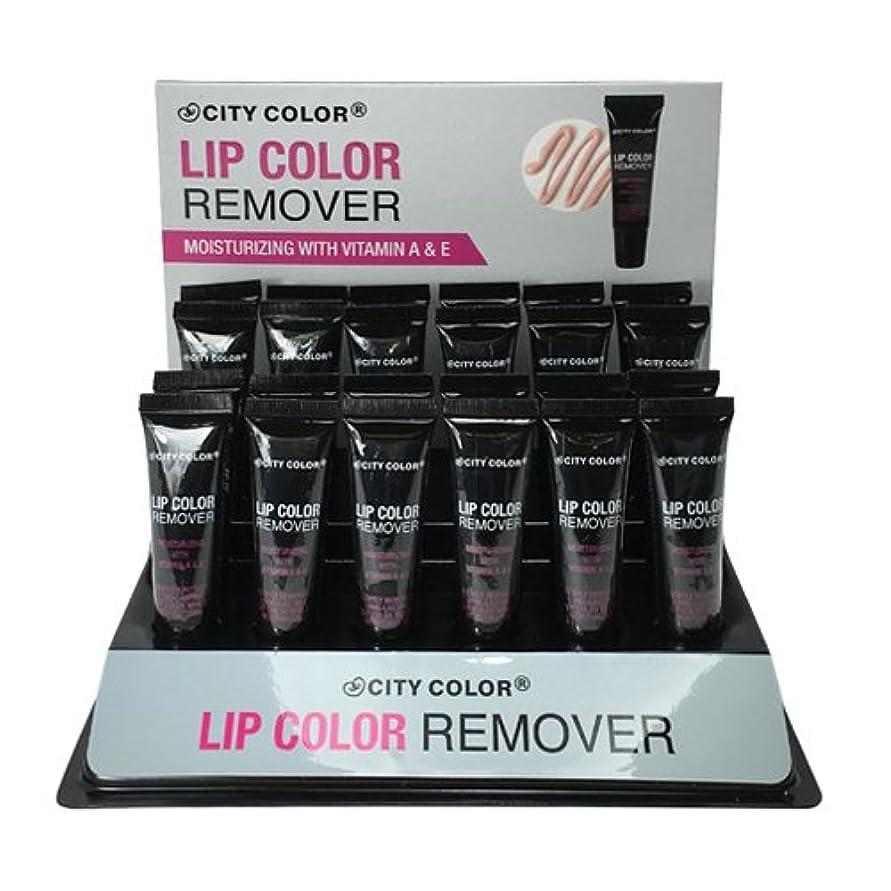 ハイブリッド風刺依存するCITY COLOR Lip Color Remover Display Set - 24 Pieces (並行輸入品)