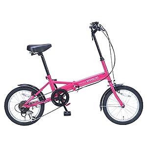 My Pallas(マイパラス) 折りたたみ自転車 M-102 16インチ 6段変速 ピンク