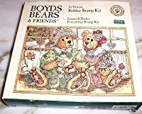 Emma & Bailey Friendship Rubber Stamp Kit - Boyds Bears & Friends