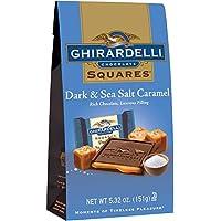 ギラデリの正方形ダーク チョコレート海塩キャラメル (パックの 3) Squares Dark Chocolate Sea Salt Caramel (Pack of 3 )