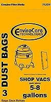 掃除機バッグショップVac用紙bags-3pk-fitsすべてのタンクサイズ5–8ガロン交換用