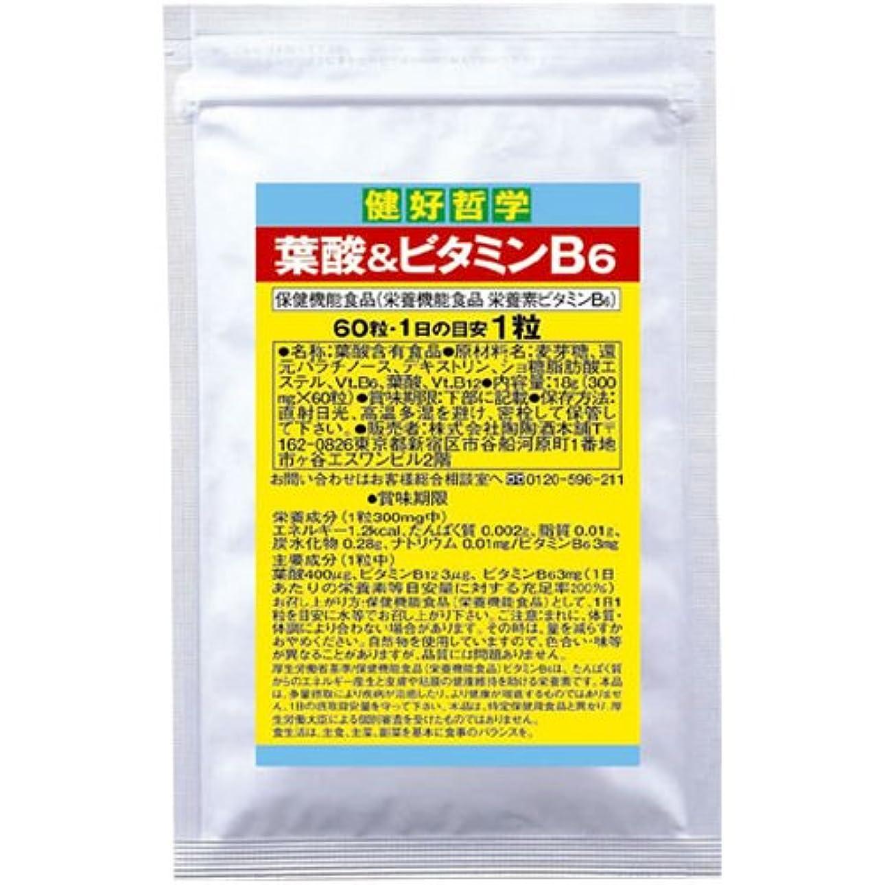 つかむ残忍な免疫する陶陶酒本舗 健好哲学 葉酸&ビタミンB6 60粒
