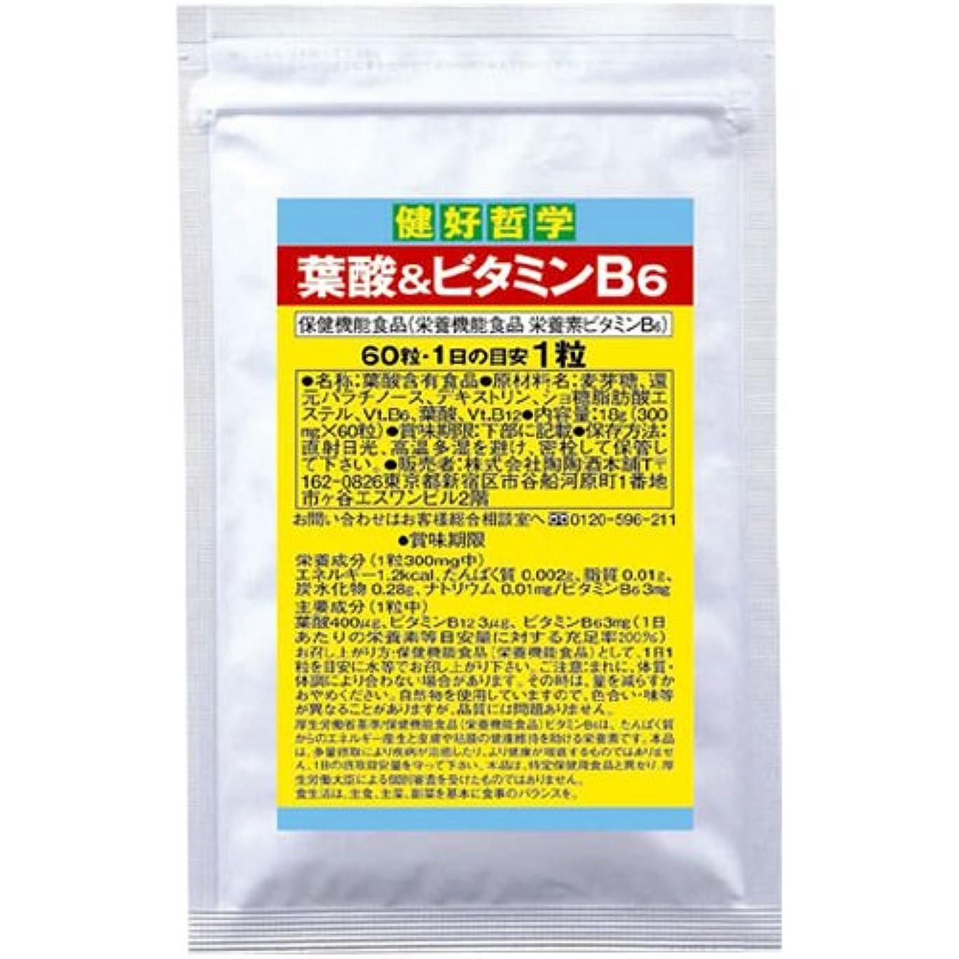 畝間マッサージ涙陶陶酒本舗 健好哲学 葉酸&ビタミンB6 60粒
