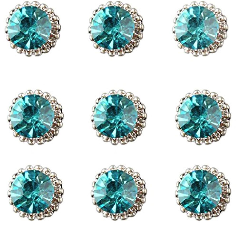 戻る毛布ジャンクションネイルアート パーツ ネイルデザイン ラインストーン ボディアート装飾 6色選択 - 緑