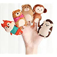 ychoice面白いFinger PuppetsトイストーリーTelling袋バッグ動物Finger Puppets with Story Book ( Little Grizzlyの宝物)