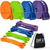 ShapEx Pull Up Bands-Heavy Duty Set of 4 Pull Up Workout Bands, Perfect Resistance Bands for Body Stretch, Physical Therapy, Home Workouts,Powerlifting,Fitness and Weight Training,Yoga