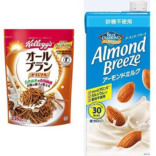 【セット買い】[トクホ]ケロッグ オールブラン袋 235g×6袋 + アーモンド・ブリーズ 砂糖不使用 1L×6本