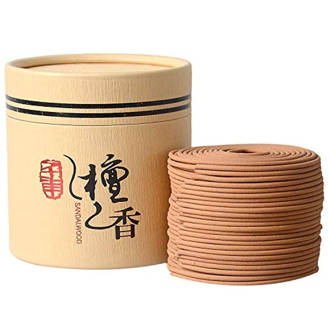 満足できる才能適応するお香 特選白檀 優しい香り 空気浄化 渦巻き線香 お香ギフト 盤香 4時間 48巻
