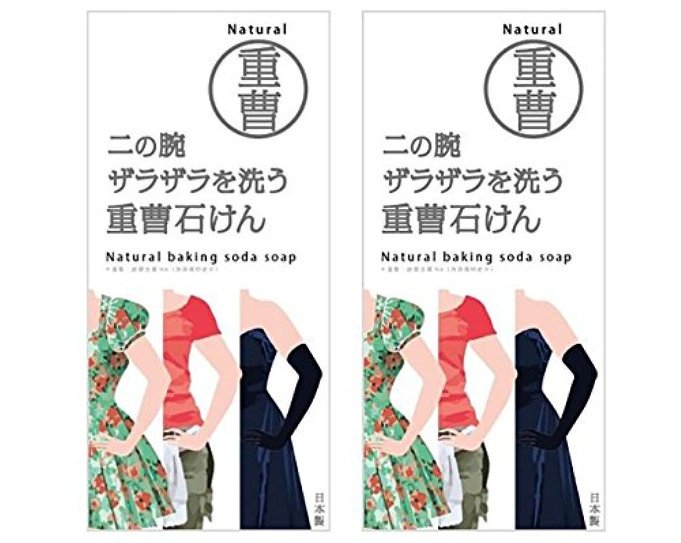 普及受ける相談するニの腕を洗う重曹石鹸 (2個)