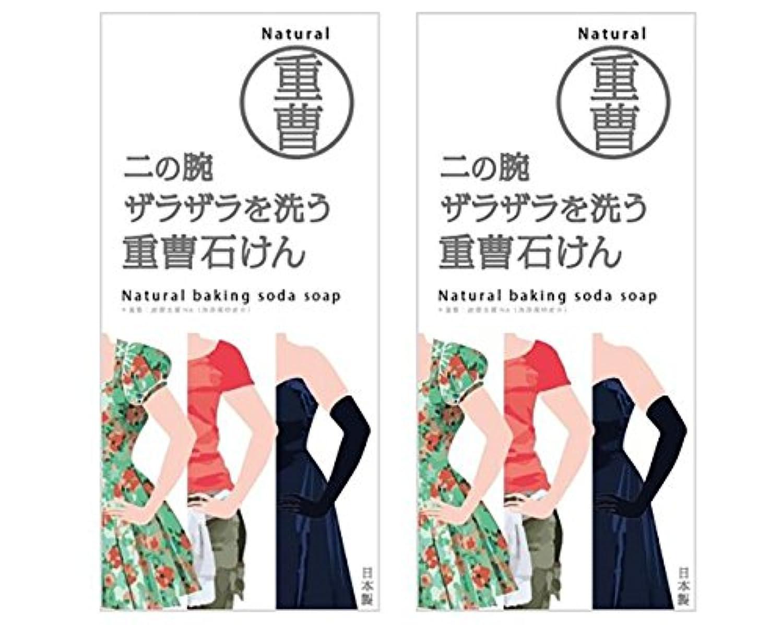 照らす影響力のある既婚ニの腕を洗う重曹石鹸 (2個)