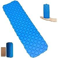 Lmeison Ultralight Sleeping Pad Campingパッド、コンパクトインフレータブルFolding Sleeping Pad /防水のわずかなフローティングパッド、エアクッションMade by Tpu & 40dナイロン – 75