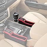 KMMOTORS コインの収納もできる車内収納ポケット コインサイドポケット(プライウッド/ホルダー有/運転席/レッド)
