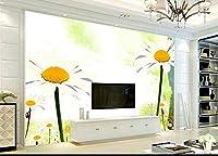 Bzbhart カスタム壁紙3D白菊インク水彩テレビの背景壁装飾壁画壁紙-450cmx300cm