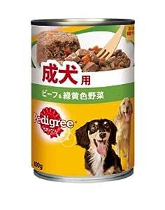 ペディグリーチャム 成犬用 ざく切りビーフ&野菜 400g × 24個 (ケース販売)